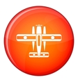 Ski equipped airplane icon flat style vector image vector image