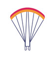skydiving paragliding parachute icon vector image