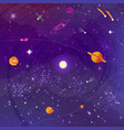space flat background with planets and stars vector image vector image