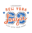 Sport league emblem in retro style vector image
