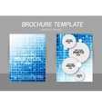 Squares flyer template vector image
