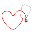 stethoscope making a heart shape vector image