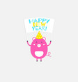 the 2019 new year card with pig vector image