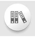 three grey folders on white background vector image
