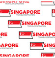 traveling and tourism singapore national flag vector image vector image