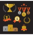 Trophy and awards set vector image vector image