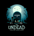 undead vector image