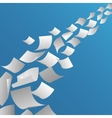 White paper sheets flying in the air vector image vector image