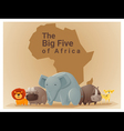 Wild African animal background Big five 1 vector image vector image