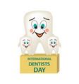 world dental day international dentist day a vector image vector image