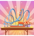Amusement park cartoon vector image