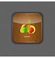 Organic wood application icons vector image