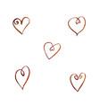 set of watercolor coffee hearts vector image