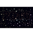 Text 2016 on background of night sky vector image