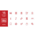 15 note icons vector image vector image