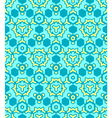abstract geometric yellow blue seamless pattern vector image vector image