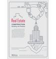 annual report real estate cover design concept vector image