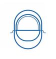 balaclava line icon vector image