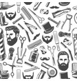 barbershop shaving haircut seamless retro pattern vector image vector image