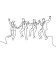 business deal concept one line drawing young vector image