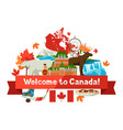 canada background design vector image
