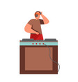 celebration party dj flat isolated vector image