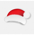 christmas santa claus cap transparent background vector image vector image
