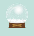 Christmas transparent snowglobe with tree eps 10
