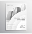 clean white business brochure template design vector image vector image