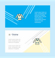 coat abstract corporate business banner template vector image vector image