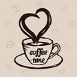 Coffee cup and lettering vector image