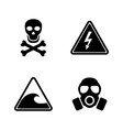 danger simple related icons vector image
