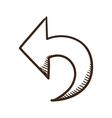 Direction arrow symbol vector image vector image