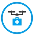 Drug Drone Delivery Rounded Icon vector image vector image