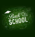 education background with back to school supplies vector image