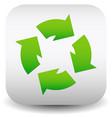 eps10 green circular arrow icon vector image