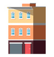 exterior multi-storey building house vector image vector image