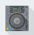 flat style dj cd player icon with shadow vector image vector image