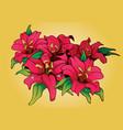 flower bouquet pinktattoo vector image vector image
