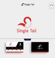 fox tail logo template and business card vector image vector image