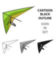 hang glidingextreme sport single icon in cartoon vector image
