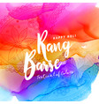 happy holi colorful background with text rang vector image vector image