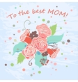 Happy Mothers Day floral greeting card vector image vector image