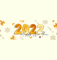 happy new 2022 year elegant gold text vector image