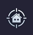 house search icon real estate logo vector image vector image