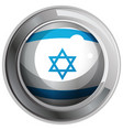 israel flag design on round badge vector image vector image