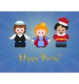 Jewish holiday of Purim Esther Mordecai and vector image vector image