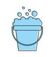 laundry bucket with foam vector image vector image