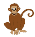 monkey white background vector image