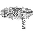 mystic word cloud concept vector image vector image
